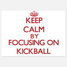 Keep Calm by focusing on Kickball Invitations