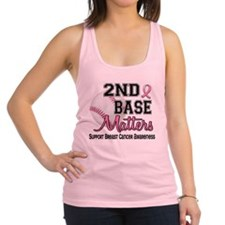 Cute I support second base Racerback Tank Top