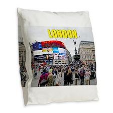 London Piccadilly Pro Photo Burlap Throw Pillow