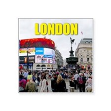 "London Piccadilly Pro Photo Square Sticker 3"" x 3"""
