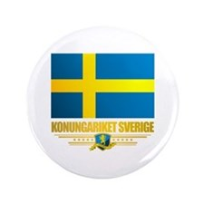 "Flag of Sweden 3.5"" Button"
