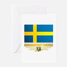 Flag of Sweden Greeting Cards