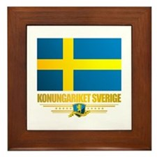Flag of Sweden Framed Tile