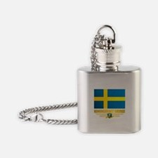 Flag of Sweden Flask Necklace
