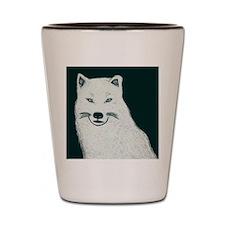 Artic wolf Shot Glass