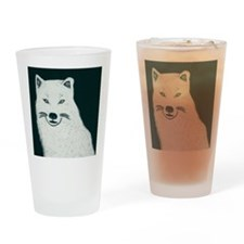 Artic wolf Drinking Glass