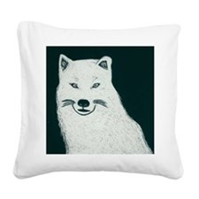 Artic wolf Square Canvas Pillow