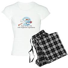 stork baby argent 2.psd Pajamas