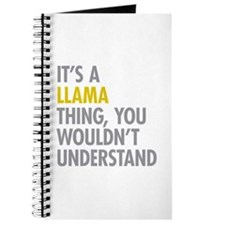 Its A Llama Thing Journal