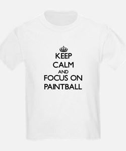 Keep Calm by focusing on Paintball T-Shirt