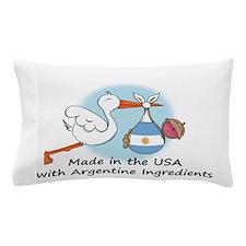 stork baby argent 2.psd Pillow Case