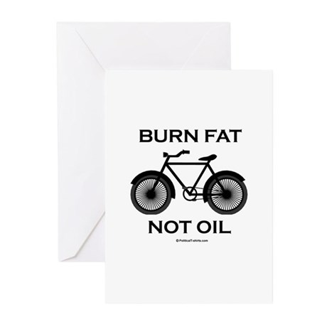Burn fat. Not oil. Greeting Cards (Pk of 10)