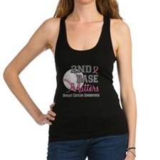 Unique I support second base Racerback Tank Top