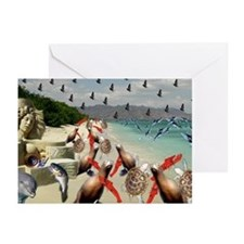Unique Lobsters Greeting Cards (Pk of 10)
