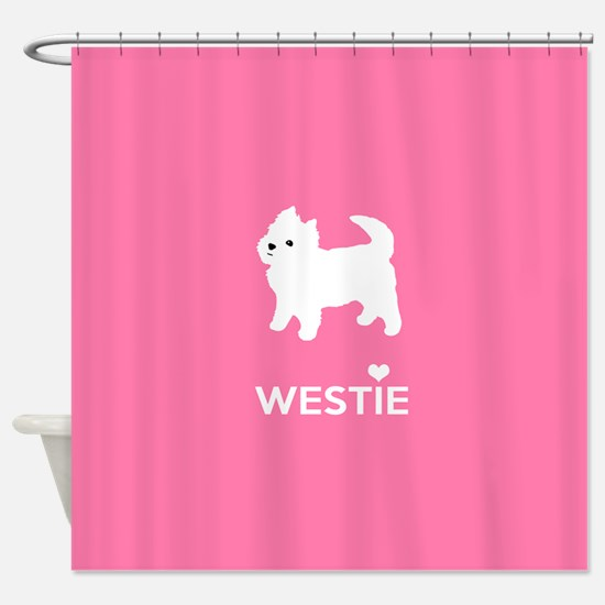 West Highland White Terrier - Westie Shower Curtai