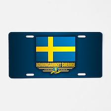 Flag of Sweden Aluminum License Plate