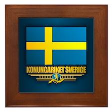Flag of Sweden Framed Tile