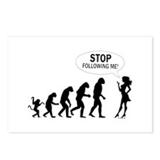 SEXY GIRL EVOLUTION Postcards (Package of 8)