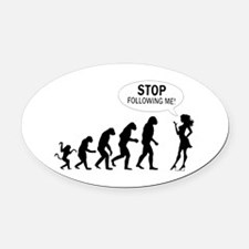 SEXY GIRL EVOLUTION Oval Car Magnet