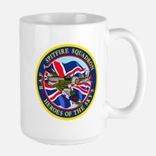 SPITFIRE w.UK flag Mugs