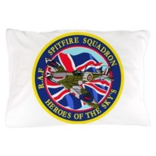 SPITFIRE w.UK flag.png Pillow Case