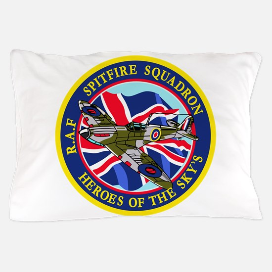 SPITFIRE w.UK flag.png Pillow Case