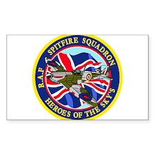 SPITFIRE w.UK flag Decal