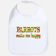 Parrots Make Me Happy Bib