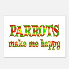 Parrots Make Me Happy Postcards (Package of 8)