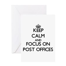 Keep Calm by focusing on Post Offic Greeting Cards