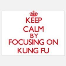 Keep Calm by focusing on Kung Fu Invitations