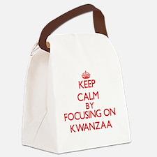 Keep Calm by focusing on Kwanzaa Canvas Lunch Bag