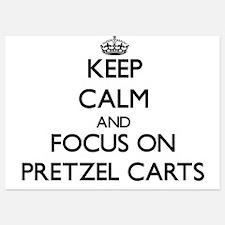Keep Calm by focusing on Pretzel Carts Invitations