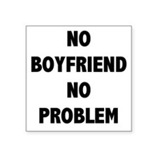 NO BOYFRIEND Sticker