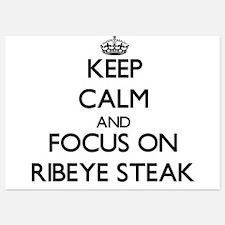 Keep Calm by focusing on Ribeye Steak Invitations