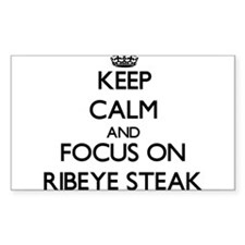 Keep Calm by focusing on Ribeye Steak Decal