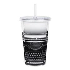Typewriter Acrylic Double-wall Tumbler