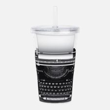 Typewriter Acrylic Double-wall Tumbler