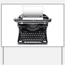 Typewriter Yard Sign