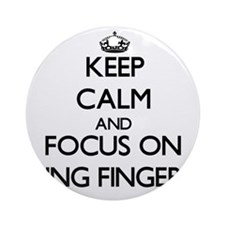 Keep Calm by focusing on Ring Fin Ornament (Round)