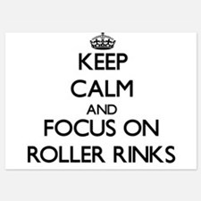 Keep Calm by focusing on Roller Rinks Invitations