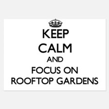 Keep Calm by focusing on Rooftop Garde Invitations