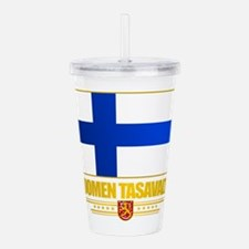 Flag of Finland Acrylic Double-wall Tumbler