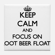 Keep Calm by focusing on Root Beer Fl Tile Coaster