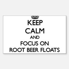 Keep Calm by focusing on Root Beer Floats Decal