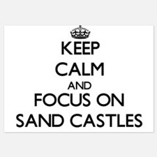 Keep Calm by focusing on Sand Castles Invitations