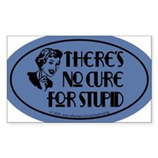cure4stupid_oval Decal