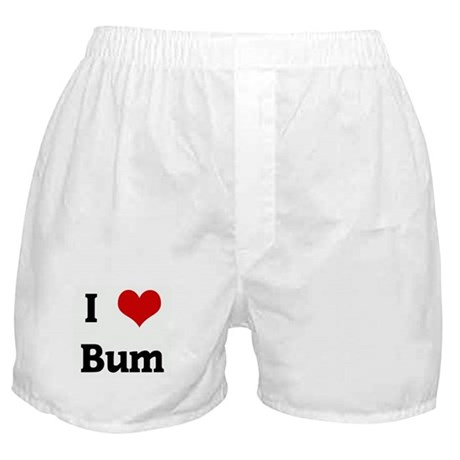 I Love Bum Boxer Shorts