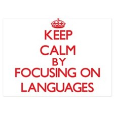 Keep Calm by focusing on Languages Invitations