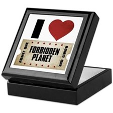 I Heart Forbidden Planet Ticket Keepsake Box